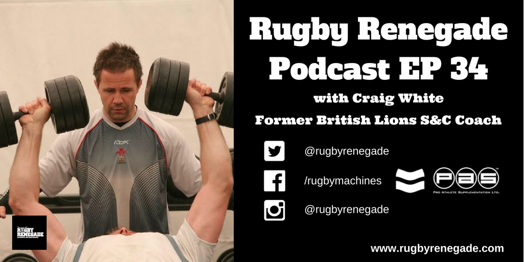 Craig White Renegade Rugby Podcast