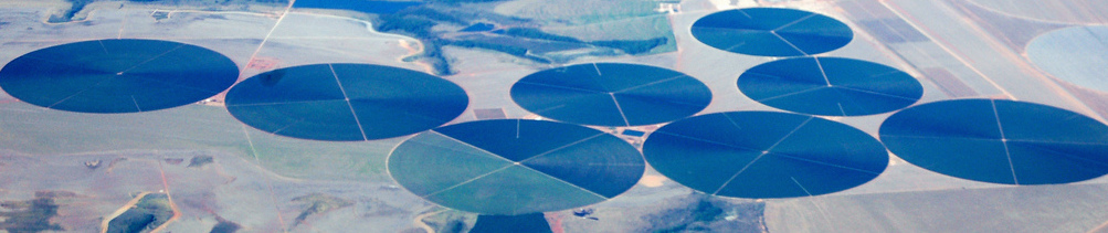 circles from the air on the landscape